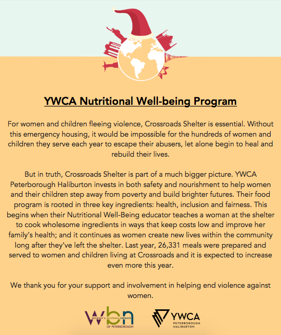 YWCA Nutritional Well-being Program